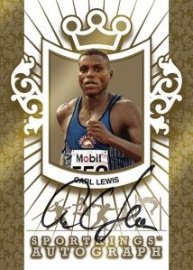 Gold Autograph Carl Lewis